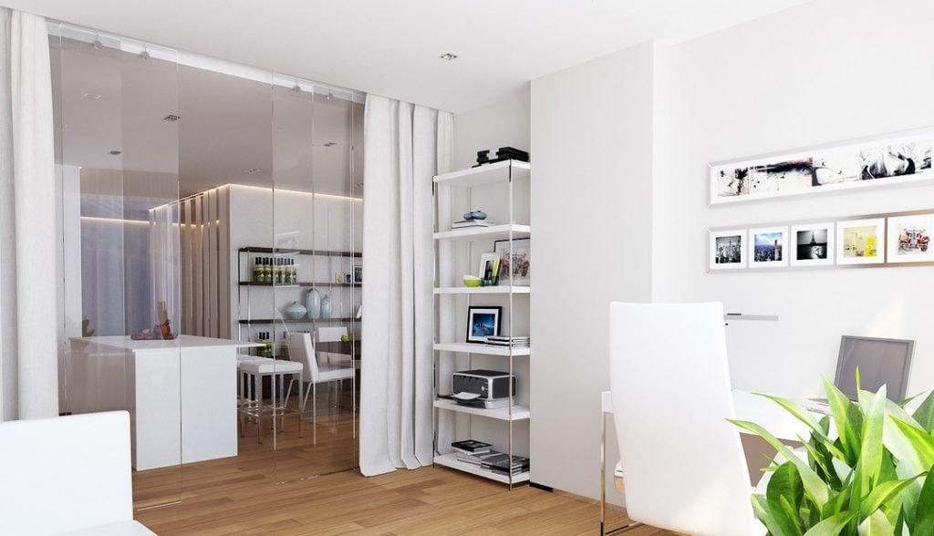 طراحی داخلی سفید