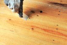 بتونه زدن چوب