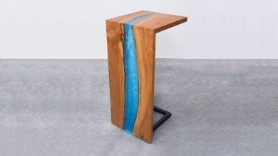 میز رودخانه ای با رزین