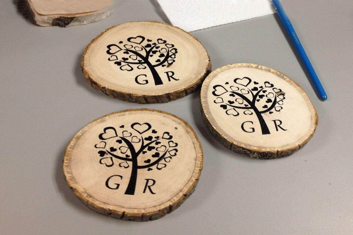 چاپ روی چوب