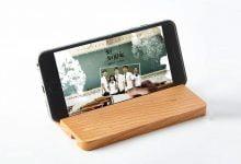 استند چوبی موبایل و تبلت