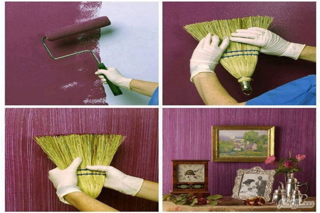 طرح چوب روی دیوار به روش خانگی