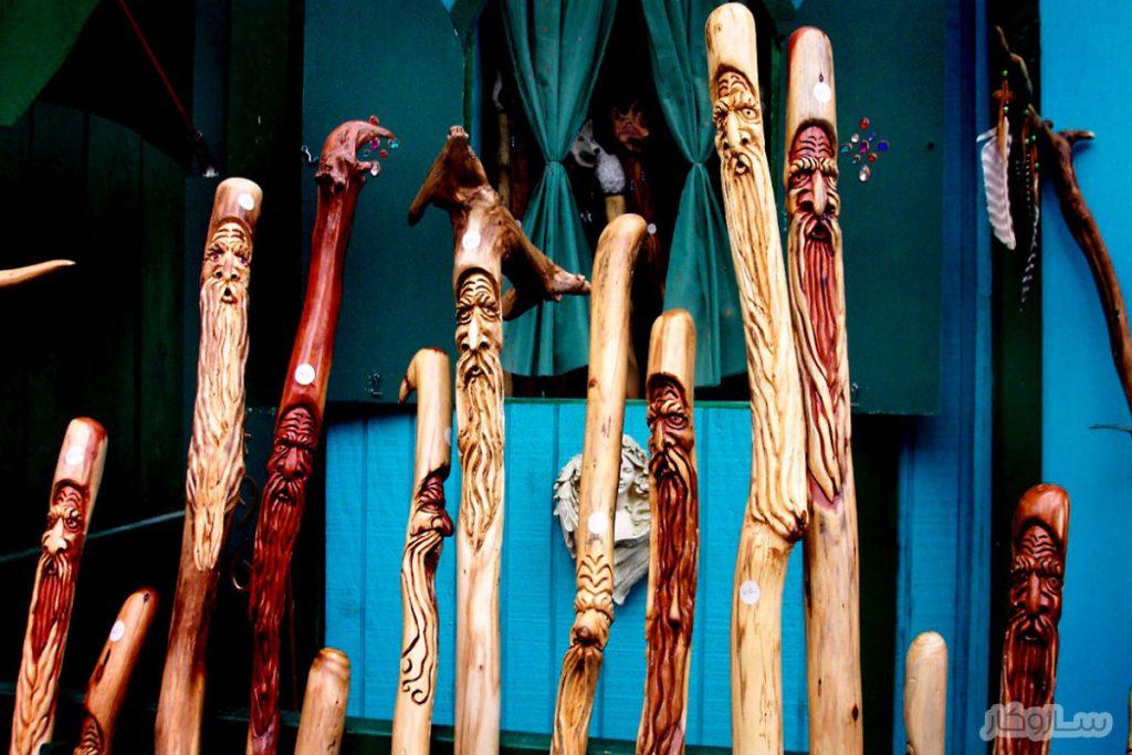 چوب دستی حکاکی شده
