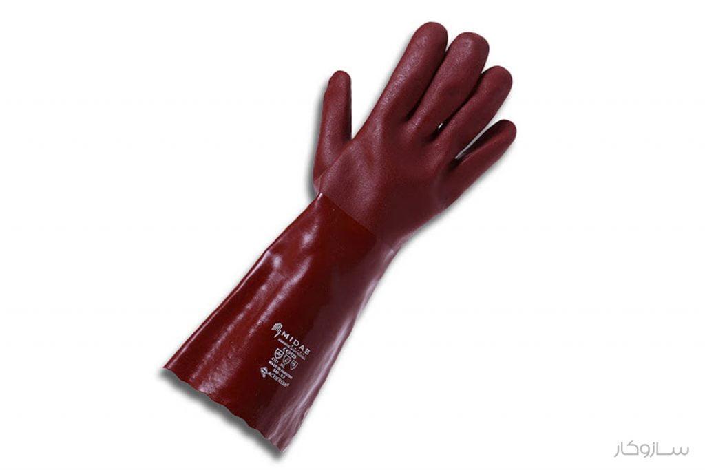 دستکش اسید و مواد شمیایی