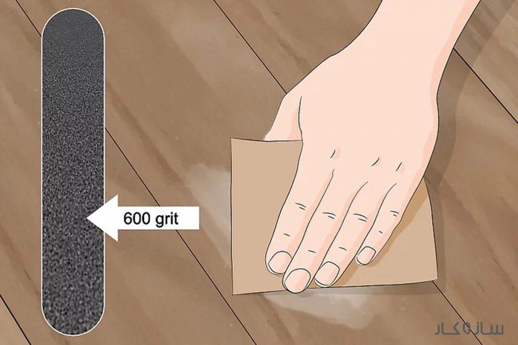 پاک کردن چسب روی چوب