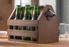 جا بطری چوبی