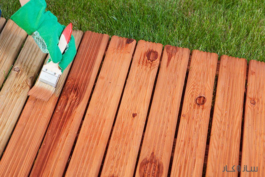 ضدآب کردن چوب